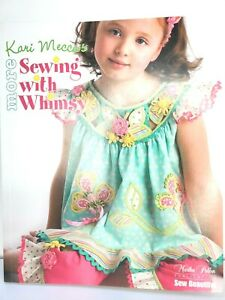 Sewing with Whimsy Kari Mecca w 1 Full Sized Patterns Girls Cute Dresses $14.85
