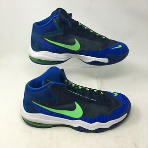 Nike Air Max Audacity Basketball Shoes Sneakers Mid Top Lace Up Blue Mens 13
