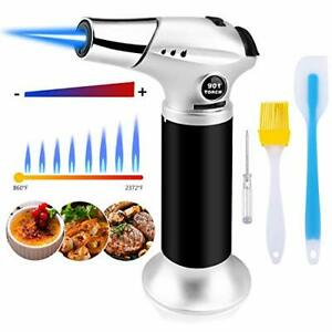 Blovec Butane Torch Kitchen Blow Torch Cooking Torch Lighter Refillable with ...