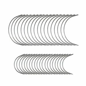 40 Curved Leather Needles for Hand Sewing for Leather Projects Carpet or Canvas $7.79