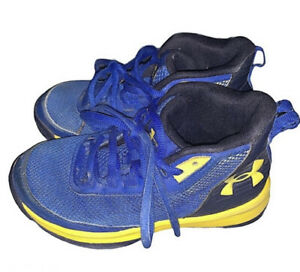 Boys Blue And Yellow Under Armour Shoes Size 13k $15.00
