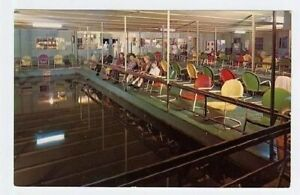 Lewisville Texas Fishing Barge Postcard Air Conditioned US Highway 77
