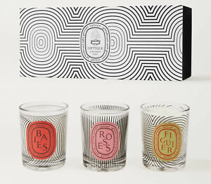 Diptyque Graphic Collection Limited Edition Candle Set Baies Roses Figuier