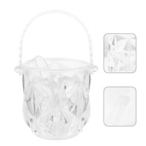 1 Set of Ice Container Bar Ice Bucket Portable Ice Holder for Restaurant Home