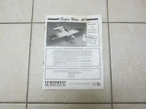 Vintage Midwest Super Hots .60 Manual R C Airplane