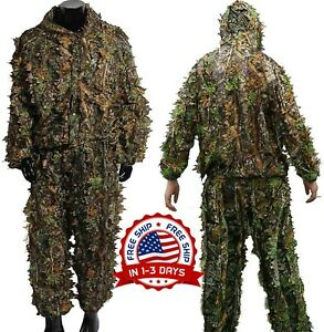 Ropa De Camuflaje Para Caza 3D Completa Camouflage Hunting Clothes Green Suit