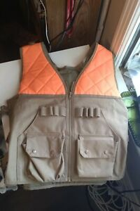 Hunting Vest Orange with front Pockets shell holding