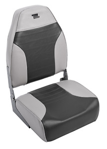 Folding Boat Seat Chair Marine Vinyl Boating High Back Deluxe Fishing Seat