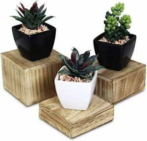 3 Square for Display Jewelry and Accessories Display Stand Wooden for Display $8.99