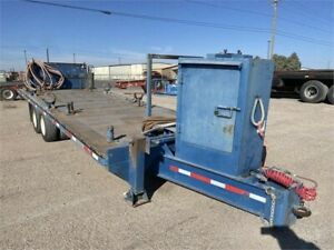 2011 Ameritrail 24amp;#39; Foot Tandem Axle Flatbed Utility Trailer With Air Brakes