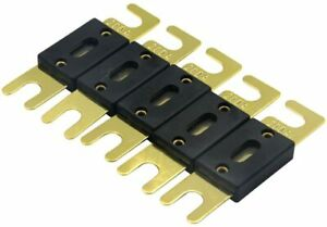 200 Amp Fuse 5 Pack Anl Fuses 200amp Gold Plated Fuse $19.43