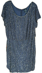 Gorgeous Adrianna Papell Beaded Dress Chocolate Brown Size 20W $27.00