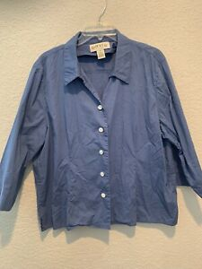 Orvis Womens Blue Button Down Size 18 $13.00