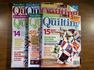Full Year 2013 Fons and Porter Love of Quilting Magazine $15.00