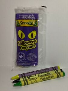 Rare 2001 Crayola Halloween 3 Pack Crayons Retired Discontinued Colors Sealed
