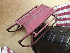 Antique Wooden Sled ORIGINAL PAINT 1700s hand made rare and collectable $250.00
