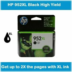 HP GENUINE 952XL Black Ink NO RETAIL BOX for OFFICEJET PRO 7740 8702 $27.98