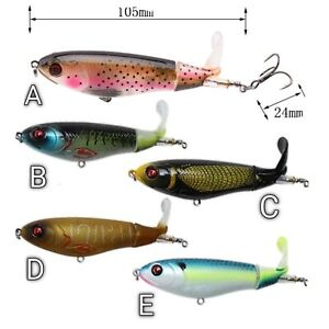 Whopper Popper Water Top Baits Rotating Tail Bass Trout Crankbaits 20201 HotLure