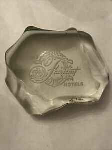 Fairmont Hotels Paperweight Glass Crystal Sand Sculptures Heavy $28.59