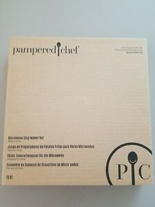 The Pampered Chef Microwave Chip Maker Set 1241 NEW