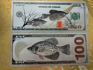2 Silver Crappie Banknotes Fishing Tail Bass Soft Plastic Lures Baits Crankbaits