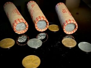 Wheat Penny Rolls 1909 1958 P D S Unsearched Double Steel Penny Ends
