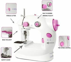 Small Sewing Machine 2 Speed Portable Adjustable Double Thread Sewing Machine $29.99