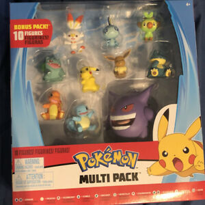 Wicked Cool Toys Pokemon Battle Figures Pack of 10 New Sealed In Box $40.00