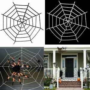 Mega Huge Giant Large Outdoor Yard Giant Spooky Spider Web Halloween Party Decor $9.59