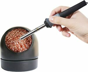 Soldering Iron Tip Cleaner with Copper Wire Ball Metal Base Holder $6.95