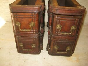 Antique SINGER Treadle Sewing Machine Cabinet Drawers With Frames #2 $40.00