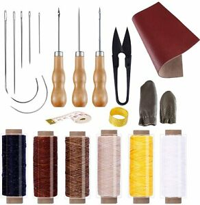Leather Seat Repair Convenient Leather Craft Sewing Kit 22 Pieces Leather Sewing $23.68