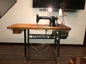 SINGER Vintage Antique Sewing Machine On Taigman's Motor Stand Circa 1922 $400.00