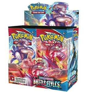 5 Battle Styles Booster Pack Lot From Factory Sealed Pokemon Booster Box $29.99