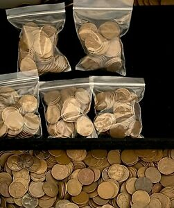 Wheat Penny Bags 50 coins 1909 1958 P D S Unsearched Save up to 10%