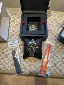 Marathon Jumbo Divers Quartz JSAR 46mm. Stainless Steel Band and rubber Bands $875.00