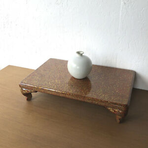 Japanese antique lacquer ware high class wooden flower stand bonsai stand $70.00