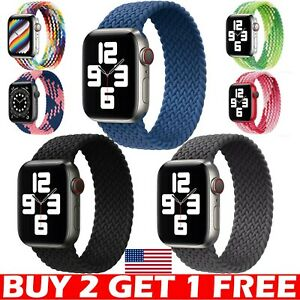 Nylon Braided Solo Loop For Apple Watch Strap Band iWatch Series 7 6 5 4 3 2 SE $6.98