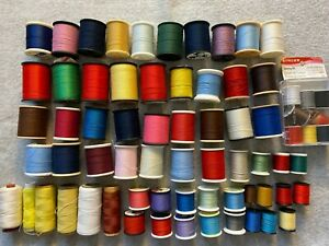 VINTAGE LOT OF 50 TALON LILY TRUSEW SUISSE ETC. SEWING THREAD SPOOLS $19.99