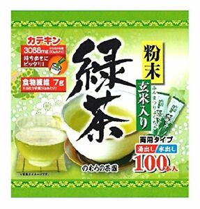 This tea powder brown rice containing green tea stick 0.5g 100 N... From Japan