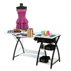 Sewing Desk Multipurpose Sewing Table Craft Table Sturdy Computer Desk W Drawer $95.99