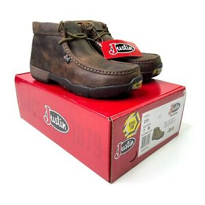 Justin Cappie Steel Toe 235 Mens Brown Leather Work Safety Boots NIB Size 7 M