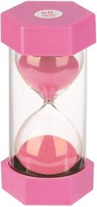 Hourglass Sand Timer 60 Minutes Colorful Sandglass Timer For Kids Office $15.97