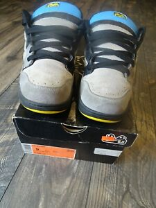 Classic 2008 Used Size 9 Nike Air Mogan 6.0 Shoes Gray Black Yellow 311839 042
