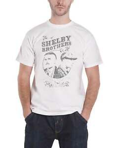 Official Peaky Blinders T Shirt Shelby Brothers Circle Faces logo new Mens White $22.10