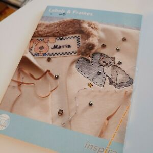 INSPIRA Labels and Frames Embroidery Design CD 23 Designs Made in Sweden $14.99