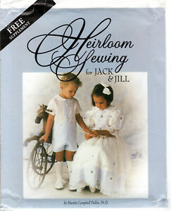quot;Heirloom Sewing for Jack amp; Jillquot; ©2000 Martha Pullen Co. PATTERNS ONLY No Book $14.99