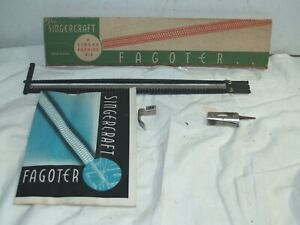 Singer Sewing #121255 Fagoter in O Box instructions Complete $499.95