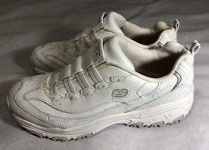 Skechers Work Women#x27;s Size 9 Relaxed Fit Sneakers Slip Resistant White