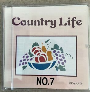 Brother Machine Embroidery Card No. 7 Country Life PES Format $40.00
